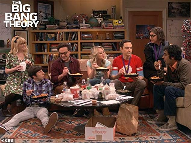 Sitcom star: Cuoco became a household name as Penny on sitcom The Bg Bang Theory. The show ended its run in 2019 after 12 seasons (pictured center with, from l-r, Melissa Rauch, Simon Helberg, Johnny Galecki, Jim Parsons, Kunal Nayyar andMayim Bialik