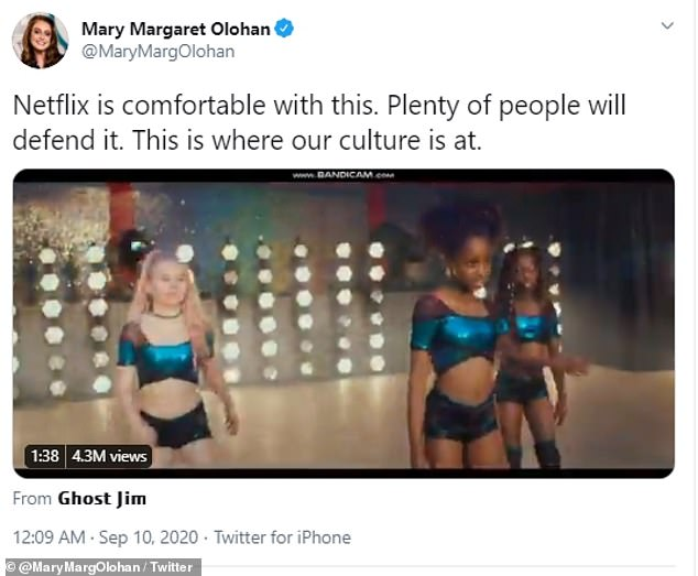 Social media users have hit out at people defending the movie as they claim that it promotes pedophilia. A Netflix trailer of the movie featured dancing 11-year-old girls, pictured