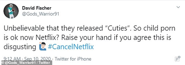 Some social media users accused the movie of 'child porn'