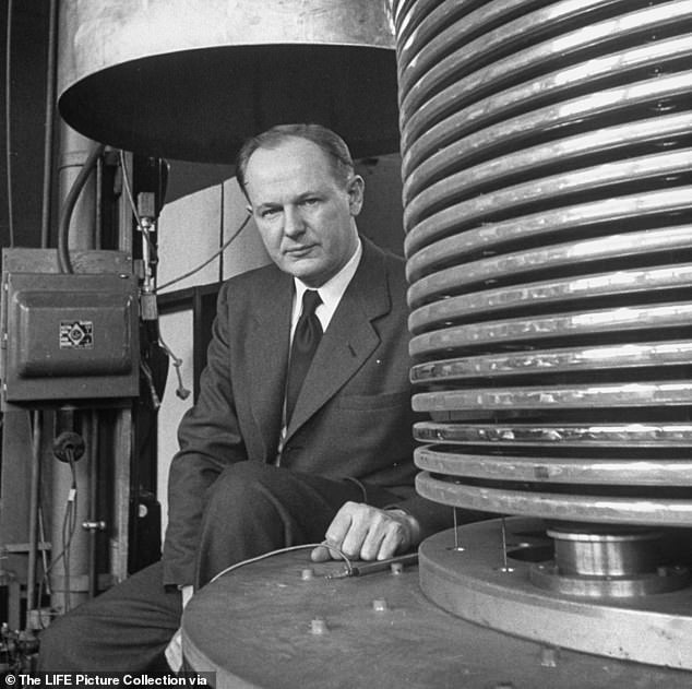 Trump reportedly said he was 'genetically' capable because his uncle Dr. John Trump (pictured) was a physicist. The president said: 'He was at MIT for 42 years or something. He was great - so I understand that stuff. You know, genetically'