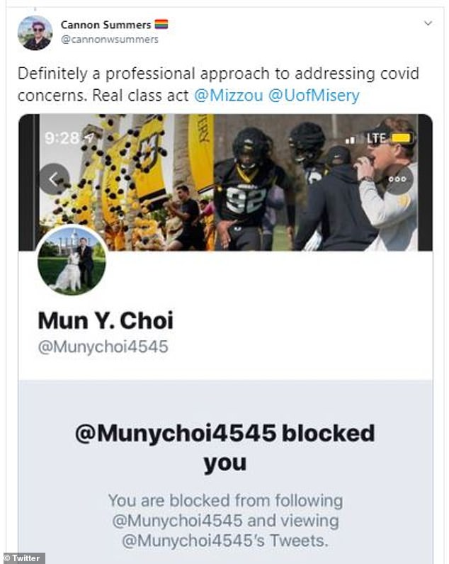A letter sent by Texas lawyer and Mizzou alum, Christopher W. Bennett, said that Chancellor Mun Choi was infringing on the First Amendment rights by blocking students who was critical of the school