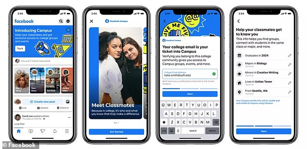 Users need a college email address and a graduation date to join.Your name, profile photo, cover photo and hometown will be imported from your main Facebook profile, but you can make edits and add additional details like major, minor and class list.