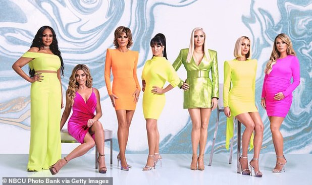 Farewell: Dennis Richards, who first joined the cast in 2018, is now leaving The Real Housewives of Beverly Hills, as confirmed by Variety on Wednesday;  (LR) Garslele Beauvais, Denise Richards, Lisa Rinna, Kyle Richards, Erika Girardi, Dorit Kemsley and Teddy Mellencamp Arrowave Pictures