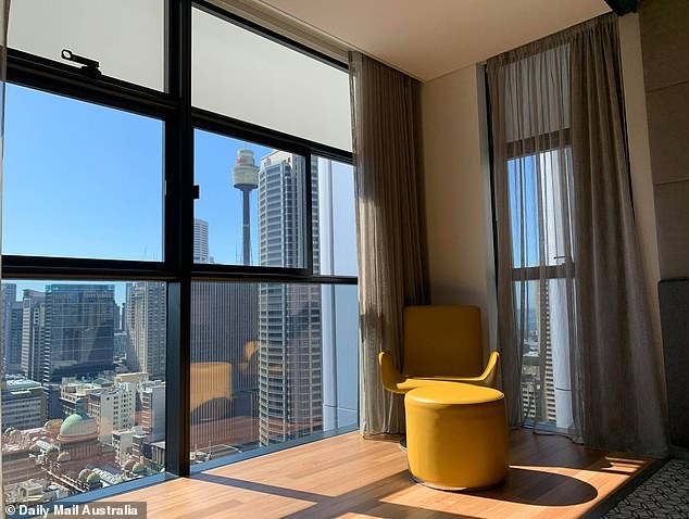 Guests can take a break from the uncertainty of the pandemic by lounging in front of the TV, reading a book while looking out to the city skyline or taking a dip in the pool