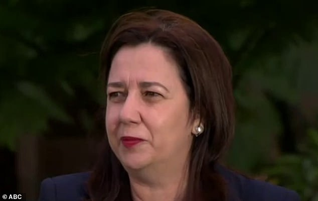 Tearful: Annastacia Palaszczuk cried on national television this morning as she fronted the cameras for the first time since refusing to let a 26-year-old nurse attend her father's funeral