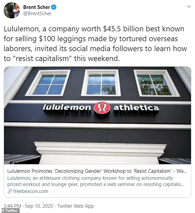 There didn't appear to be many tweeting in support of Lululemon and the workshop