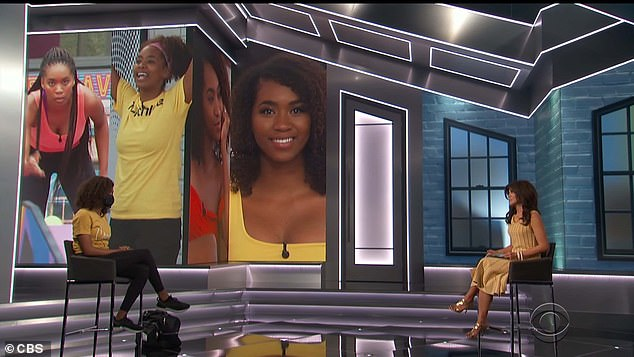Socially distanced:Before she left, Bayleigh said that she had had 'a very rough' emotional experience during her last stint on BB, and wanted to come back to prove that it hadn't defined her