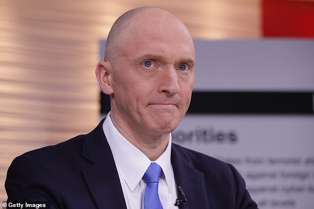 The report found that there was no intentional misconduct or political bias surrounding the probe's launch and efforts to seek a Foreign Intelligence Surveillance Act (FISA) warrant to monitor Carter Page, Trump's former campaign adviser (pictured)