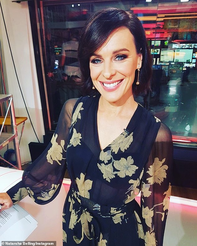 'It's been an absolute pleasure': Respected newsreader Natarsha Belling (pictured) was also sacked by Channel 10 last month after more than two decades at the network. Making a dignified exit, Natarsha later shared a classy farewell to viewers and her former colleagues via Instagram