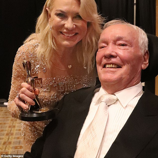 Tragic: The media veteran reflected on the tragic moment her late husband John died at the age of 78 last year after complications from a fall, and said the morning show and her co-stars 'saved her' from the depths of despair