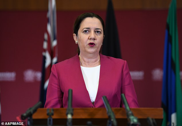 A landscaper hired an aircraft to fly over Queensland urging the state to 'vote out' embattled Premier Annastacia Palaszczuk (pictured)