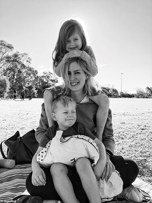 Ms Dreyer (pictured pictured with her children) has a Master's in interactive design from the University of Sydney and had been working in the sector for a few years