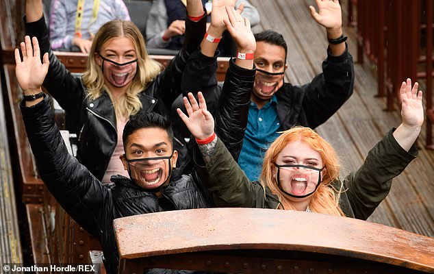 Thrill seekers would normally race to see their hilarious pictures after going on the attractions but they now have to wear coverings on many due to the coronavirus