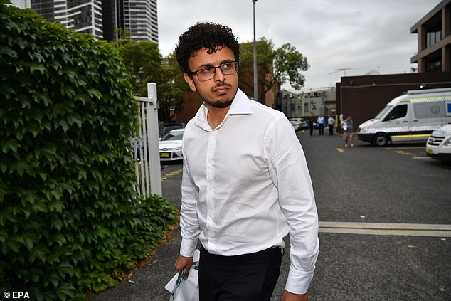 Arsalan Tariq Khawaja, 40, (pictured) wrote a fake terror attack hit-list in a notebook then claimed the book belonged to his UNSW colleague Kamer Nizamdeen