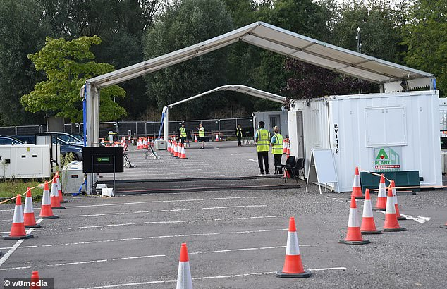 Chessington has played host to a Covid-19 drive-through testing centre on one of its car parks (pictured earlier this month)