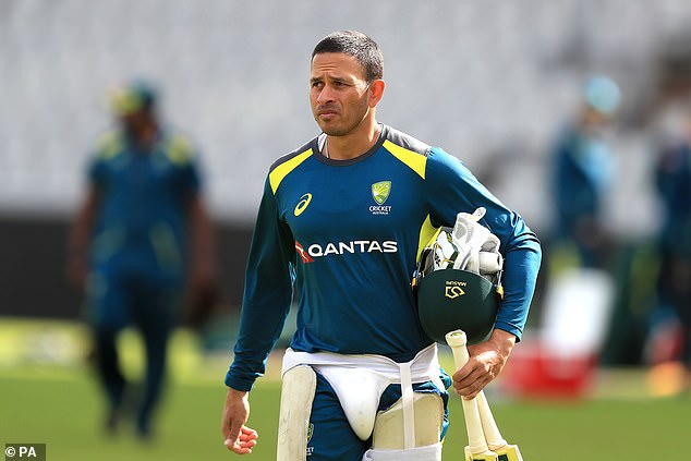 Australian Cricketer Usman Khawaja (pictured) faced court on Friday to defend his brother with a glowing character reference