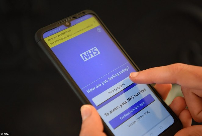 Officials abandoned the NHS's attempt at making its own app in June when they realised it didn't work on iPhones (Pictured: The app in development stages)