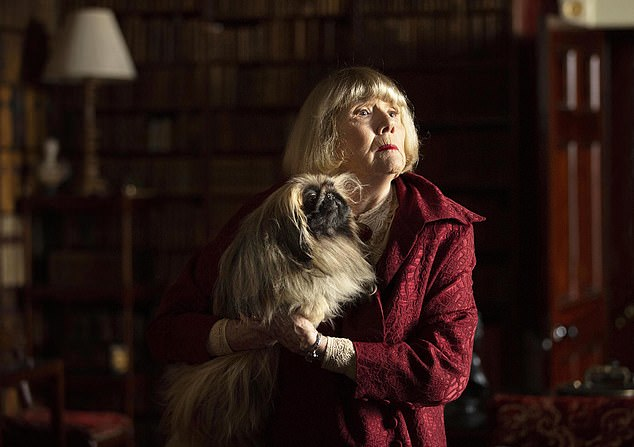 Dame Diana Rigg as Mrs Pumphrey, with Tricki Woo in the recent adaptation of All Creatures Great and Small, from James Herriot's collection of stories about life as a Yorkshire vet