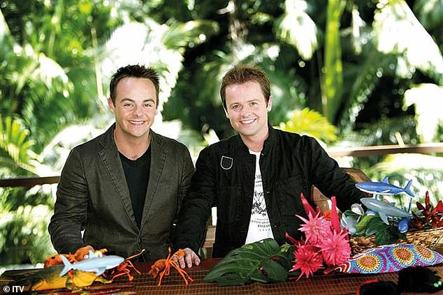 Moved: The show has been moved from balmy Australia to chilly North Wales for the first time amid the COVID-19 pandemic. Pictured are hosts (L-R) Anthony McPartlin and Declan Donnelly