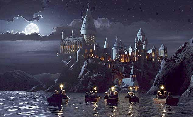 Amazed web users have compared the scene toHogwarts, the school of witchcraft and wizardry from Harry Potter films (above).One wrote: 'Is this the Shandong branch of Hogwarts'