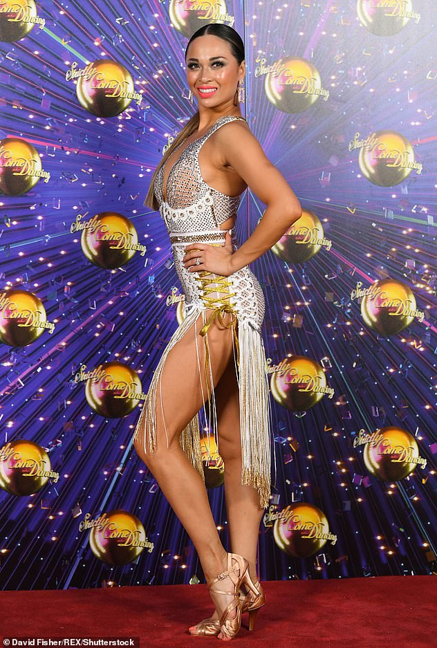 New rules: The Sun has also claimed that bosses have a list of 'stand-by' celebrities for the show in case a star falls ill with relatives likely banned from rehearsals and no live studio audience allowed (Katya Jones pictured in 2019)