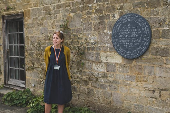 National Trust Communications Director Celia Richardson unveils a plaque thanking those who made the £7.1million project possible. Donations were also contributed by National Trust Supporter Groups, private donors and members of the public
