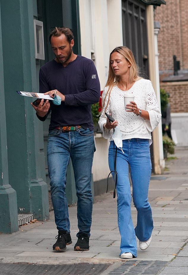 A closer look: James had another glance over the brochure for the property as they left
