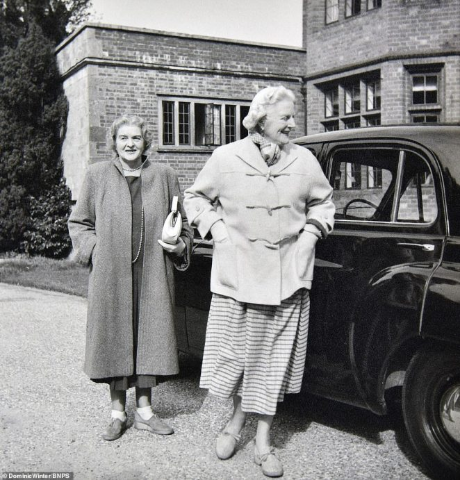 The snaps were taken in 1951, a year after Churchill was re-installed as Prime Minister after losing the the General Election in 1945 - the year which the six-year war ended. Pictured, Churchill's wife Clementine (on the right)