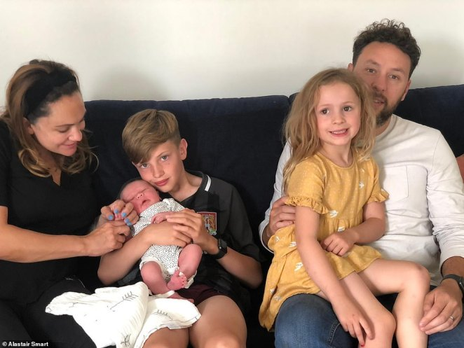 Father-of-three Alastair Smart, 34, is one of the parents who has criticised the government ruling. Pictured with his family, he told Mail Online: 'We're a family of 5 (kids are 11, 5 & 7 weeks old) and it's almost another lockdown for us'