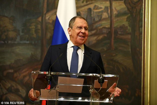 Russian Foreign Minister Sergei Lavrov (above) also denied that his country was involved in cyberattacks targeting the election, calling the claims 'unsubstantiated'