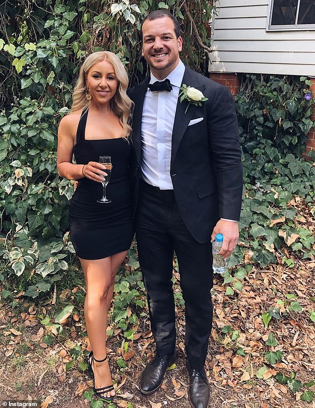 Mullen (pictured with partner) allegedly became a cocaine addict and drug-dealer snorting 'three grams in half-a-day' to cope with the end of his NRL career