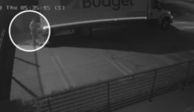 In the first incident, captured by a surveillance camera, a man got out of a Budget rental truck, opened up its back door and threw bags of mail out in a Glendale parking lot on September 3