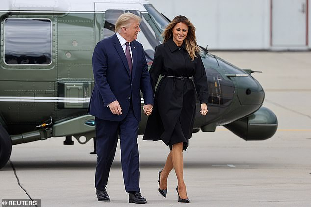 President Donald Trump bragged to first lady Melania Trump that Bob Woodward was writing a book about him