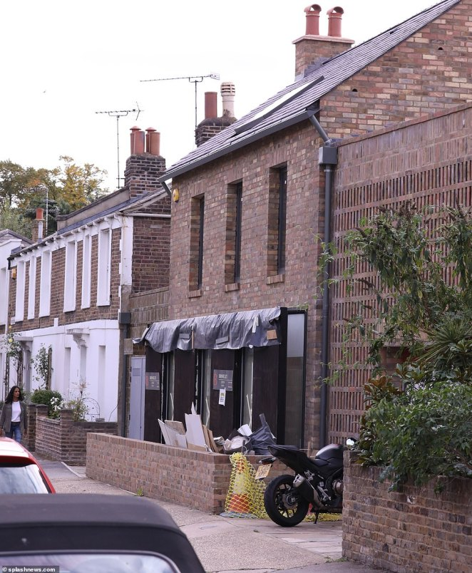 James May's £3million superhome is still under construction as builders continue putting the finishing touches to the west London property