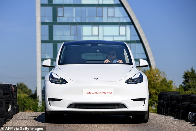 Tesla first unveiled its Model Y last year and began shipping the vehicle to customers this past March. The car seats seven adults, with an option third row in the back, and is said to go from zero to 60 miles per hour in just 3.5 seconds
