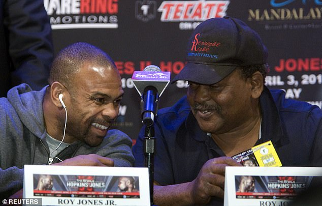 Jones says he and his father, once his trainer, haven't spoken for years after a fall out in the 1990s during the height of his boxing career. They're pictured together in 2010