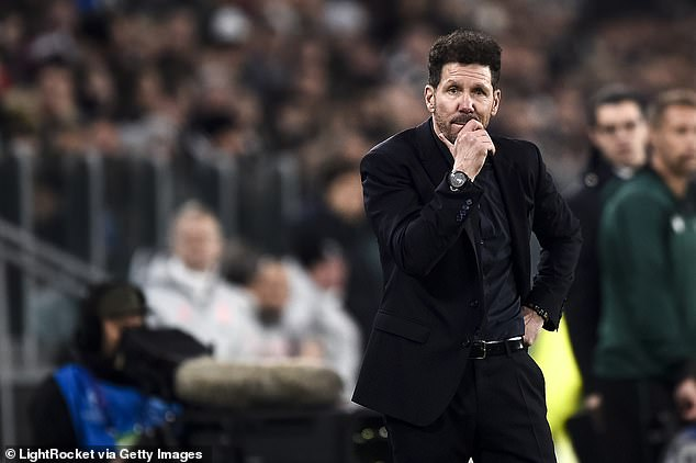 Diego Simeone will be unable to resume training until the latest results are made available