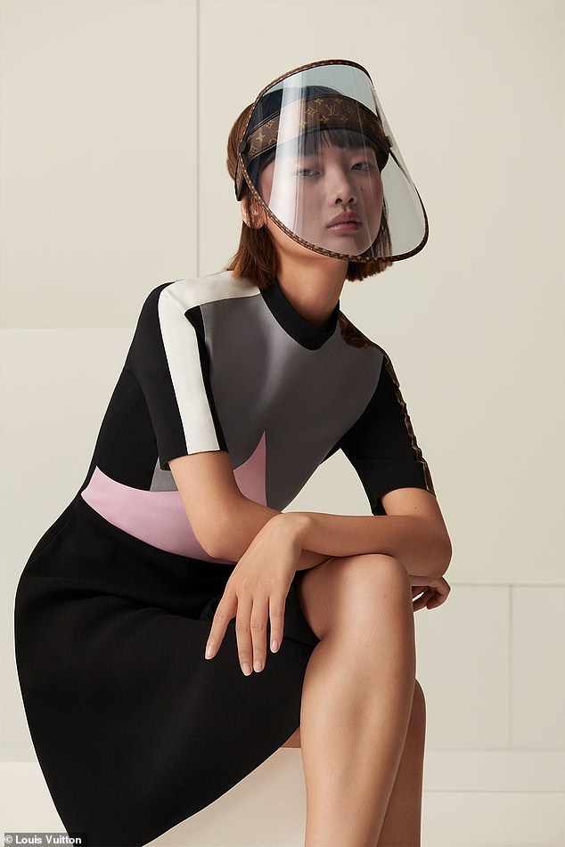 What? Louis Vuitton is launching a $960 luxury face shield. The COVID-19-inspired visor is slated to hit stores on October 30 as part of the French fashion house's 2021 Cruise Collection