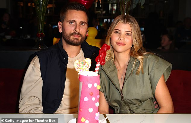 Calling quits: It came after sources confirmed that Sofia and boyfriend of three years Scott Disick, 37, called it quits back in May (pictured in February, 2019)