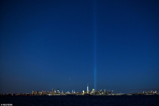 Lights can be seen even a few miles away as they illuminate the night sky in the country's largest city.