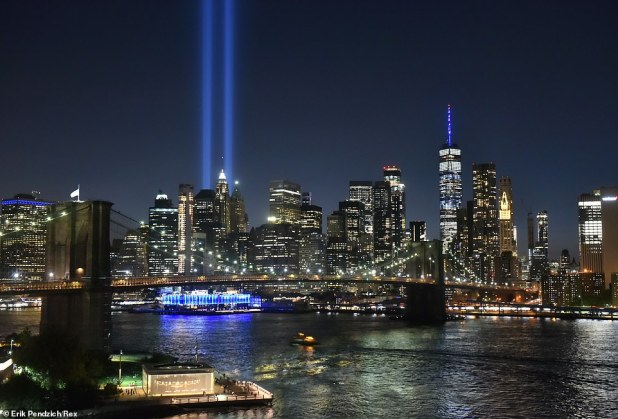 Another scene of homage moving from the East River to Brooklyn, overlooking downtown Manhattan