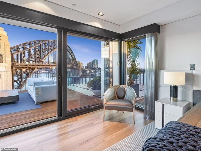 The two-storey apartment in Alfred Street in Milsons Point is the latest stunning home on sale with a price guide between $15million and $16.5million