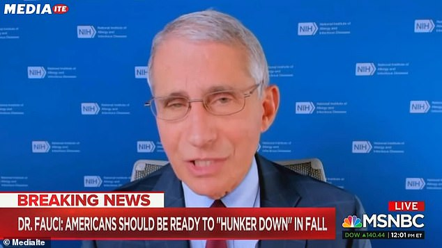 Dr Fauci says U.S. won't get back to normal until late 2021 when a successful vaccine for COVID-19 could be widely distributed
