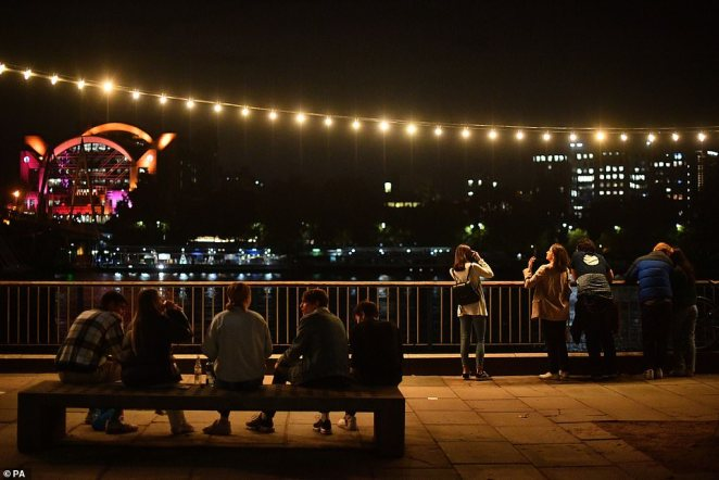 The latest measure introduced to tackle the spread of coronavirus comes as a Government-led study yesterday suggested the reproduction 'R' rate could be as high as 1.7 in the UK. Pictured: Southbank on Friday