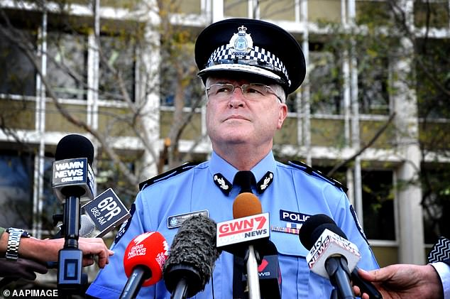 WA Police Commissioner Chris Dawson (pictured) who is also the WA State Emergency Coordinator, personally ordered the anklet to be fitted