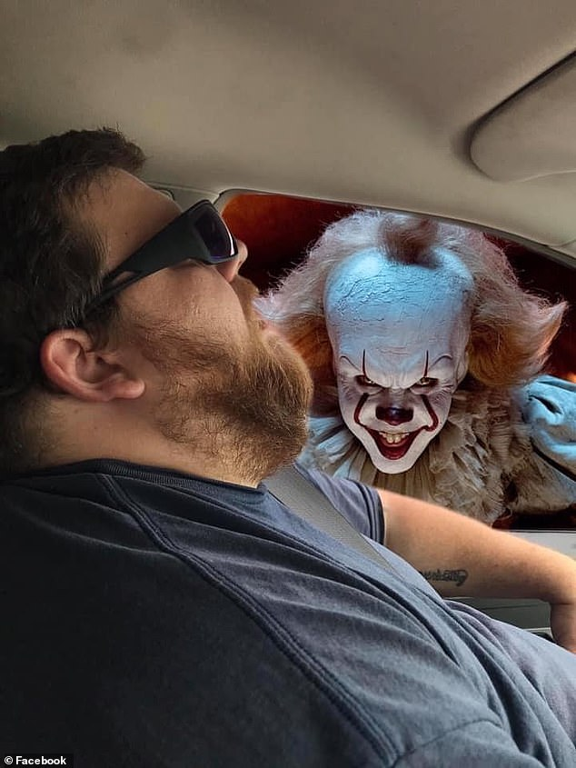 She posted the original photo in a Facebook group and asked members to photoshop the image for a laugh. Pictuered: Pennywise the Dancing Clown from It
