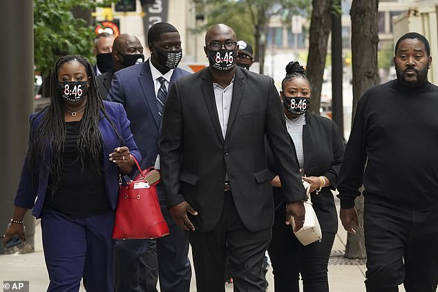 The Floyd family were seen arriving for the pretrial hearing early Friday