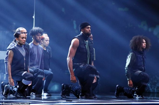 Divisive:Diversity's routine, which narrated the killing of unarmed black man George Floyd in May, had already polarised fans of the talent show on Saturday night due to its political stance
