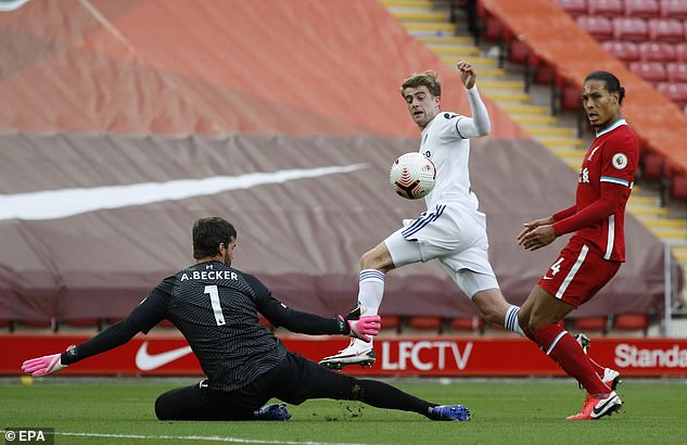 Leeds struck back again in a crazy first-half - Patrick Bamford coolly finishing over Alisson