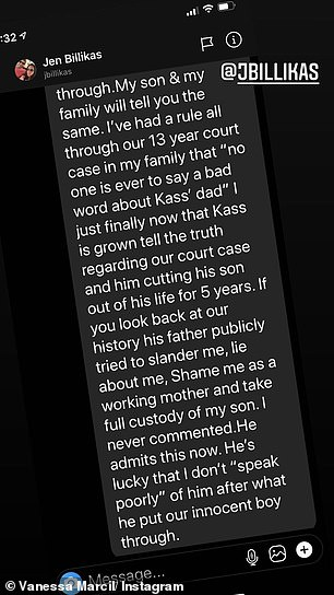 """'I speak with empathy regarding Kassius' dad considering the complete devastation that my son went through. My son and my family will tell you the same. I've had a rule all through our 13-year court case in my family that """"no one is ever to say a bad word about Kass' dad""""'"""